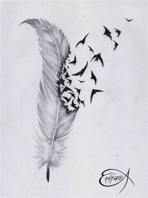 87012-feather-and-bird-drawing-tumblr-feather-tattoo-by ...