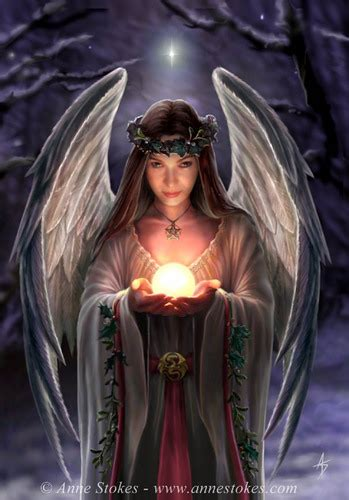 Anne Stokes images Yule Angel HD wallpaper and background ...