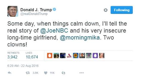 Donald Trump focuses his Twitter ire on Morning Joe hosts ...