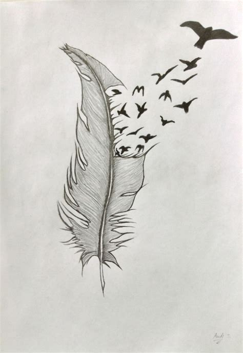 Drawn Feathers Into Birds | www.imgkid.com - The Image Kid ...