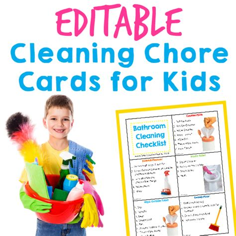 Editable Chore Cards for Kids | Happy Brown House