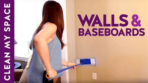 How to Clean Walls & Baseboards! (Clean My Space) - YouTube