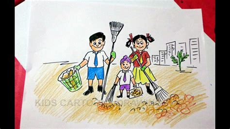 How to Draw Clean India Drawing for Kids Step by Step ...