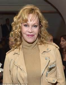 Melanie Griffith parades her slim pins in white skinny ...