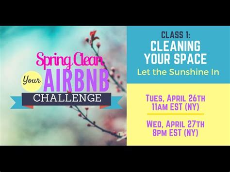 Spring Clean Your Airbnb Challenge: Your Space - YouTube