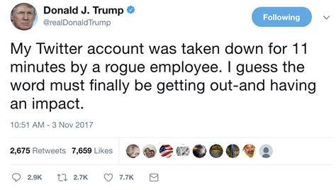 Why was Donald Trump's Twitter account suspended? Employee ...