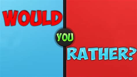 WOULD YOU RATHER? (http://either.io/) - YouTube